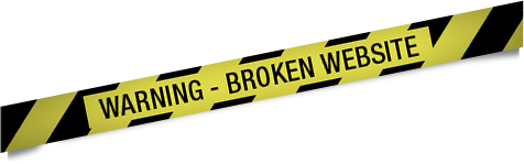 warning broken site