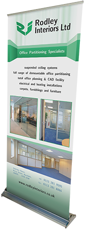 Roll-up banner design for Rodley Interiors